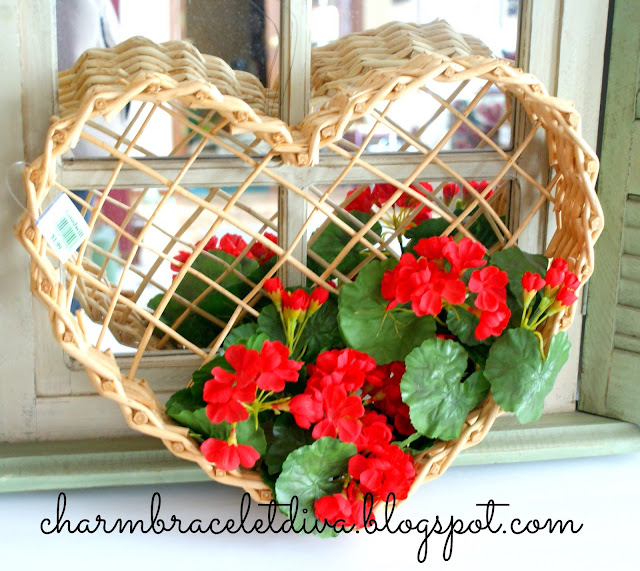 Goodwill heart shaped basket