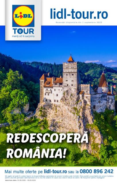 LIDL TOUR catalog brosura  Redescopera Romania