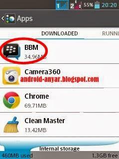 Cara mudah log off di BBM Android Lengkap tanpa uninstal