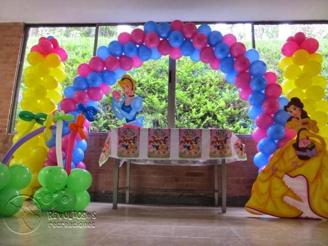 Decoracion con globos princesas disney decoraci n - Decoracion fiesta princesas disney ...