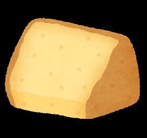 シフォンケーキのイラスト(カット・プレーン)