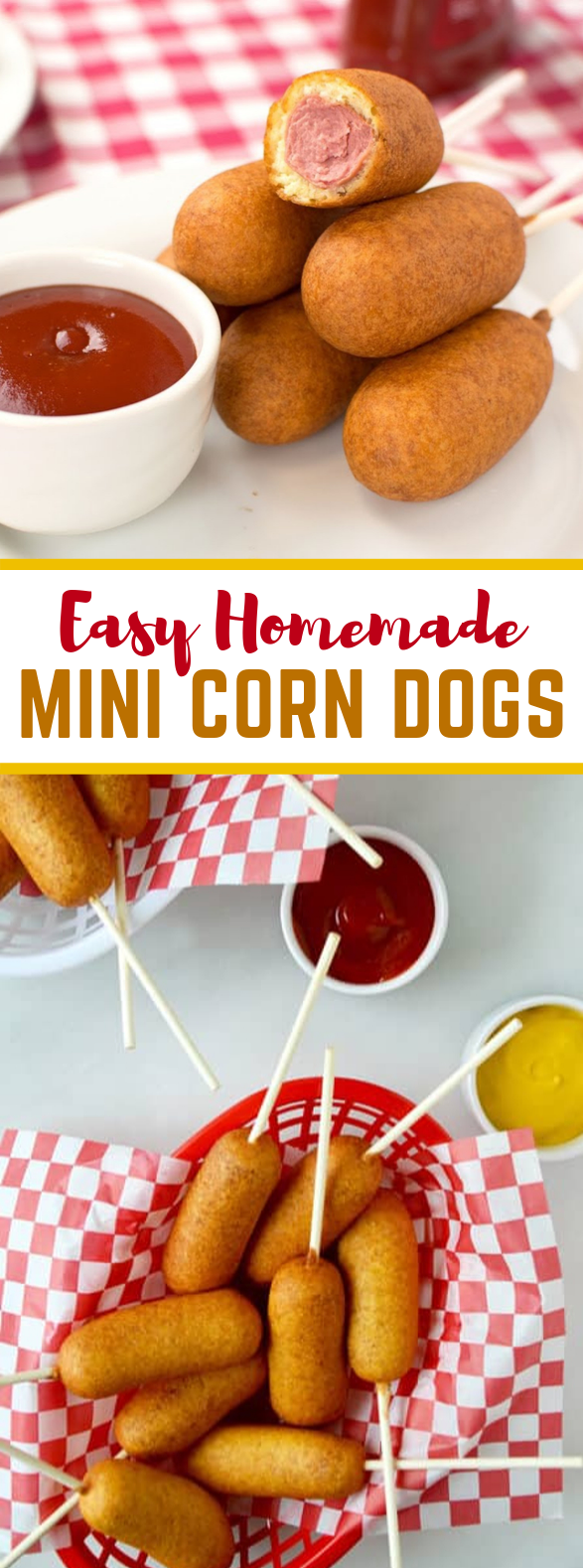 Easy Homemade Mini Corn Dogs #food #lunch
