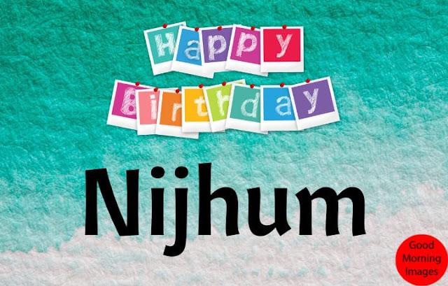 birth day wishes cake with name nijhum