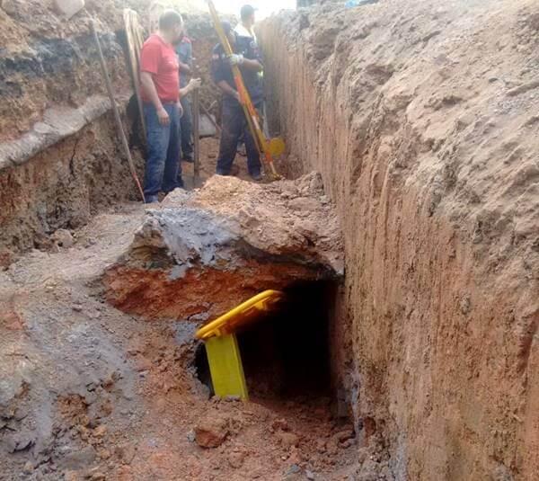 Homem fica soterrado em Canoinhas