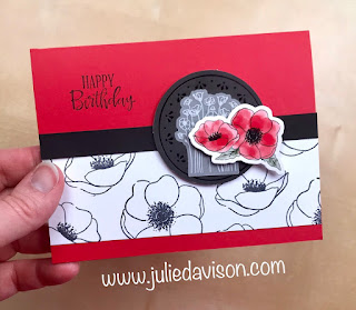 Stampin' Up! Painted Poppies Card ~ Peaceful Poppies Suite ~ www.juliedavison.com