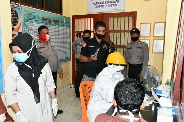 16 Tahanan Polres Aceh Timur Jalani Rapid Test