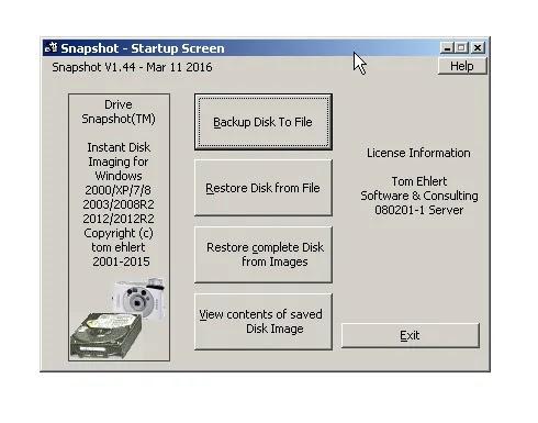تحميل برنامج Drive SnapShot 1.48.0.18789 للنسخ الاحتياطي لبيانات القرص الثابت