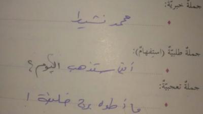 حل درس الجملة واغراضها للصف السادس