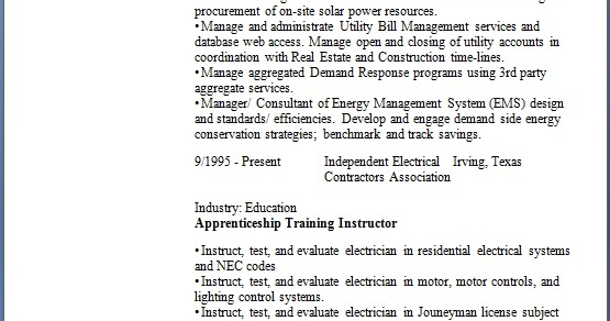 Manager Energy Management Sample Resume Format in Word Free Download