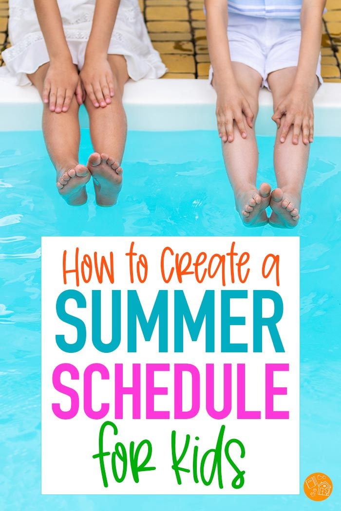 Learn how to create a summer schedule that works for YOU with this simple step by step guide. Includes a free printable checklist to help you along the way! Get ready for summer break and help your entire family to enjoy their summer with a routine that works. Every mom needs this! #summerbreak #planners #parenting #summer