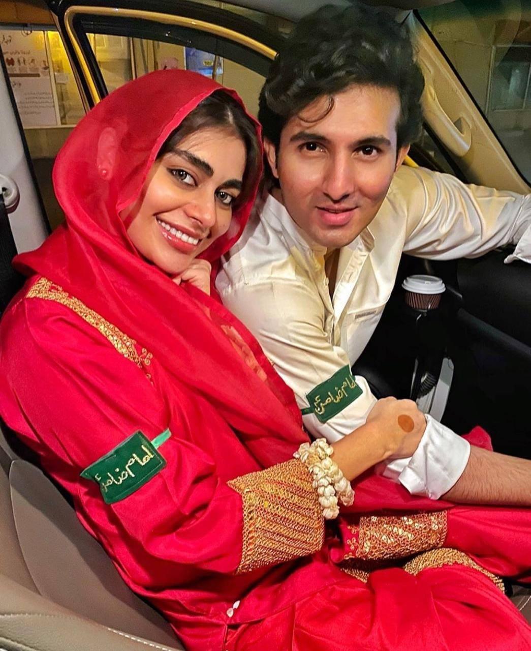 Newly Wed Couple Shahroz Sabzwari and Sadaf Kanwal