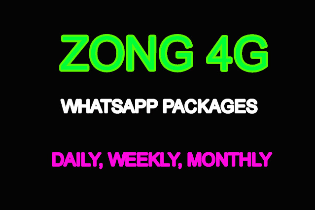 zong whatsapp packages
