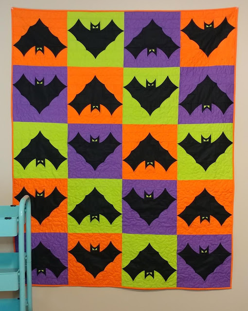 Going Batty Halloween quilt