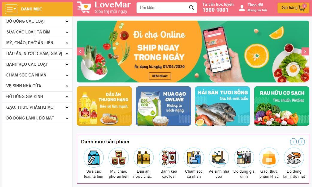 Template Blogspot bán hàng bách hóa