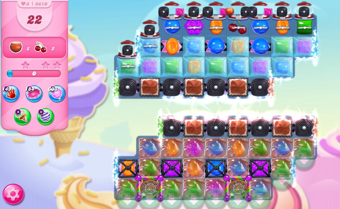 Candy Crush Saga level 6610