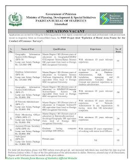Pakistan Bureau of Statistics Jobs November 2020 - PBS November Jobs 2020 Apply Online