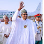 President arrives Daura from Malabo on four-day official visit