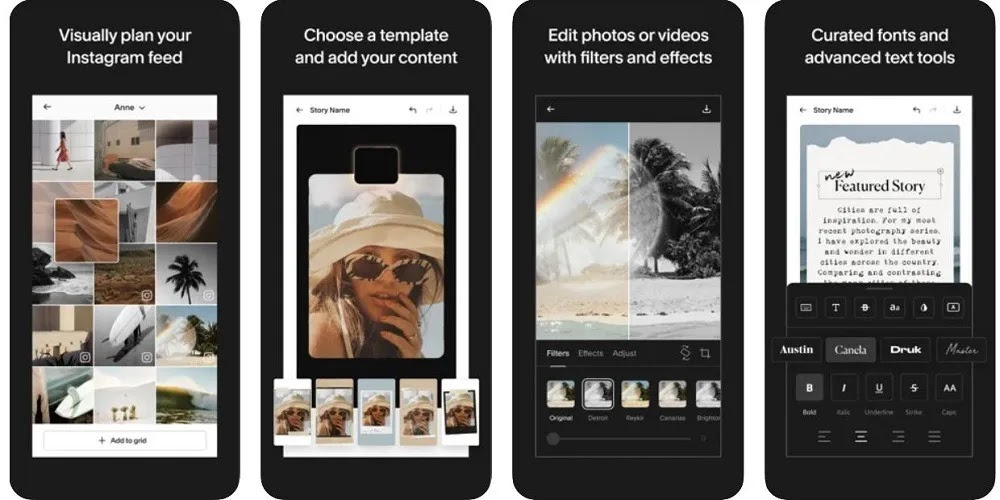افتح تطبيقات Instagram Stories