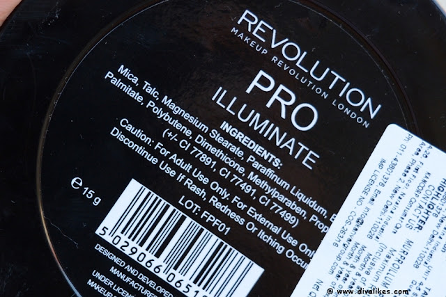 Makeup Revolution Pro Illuminate Ingredients