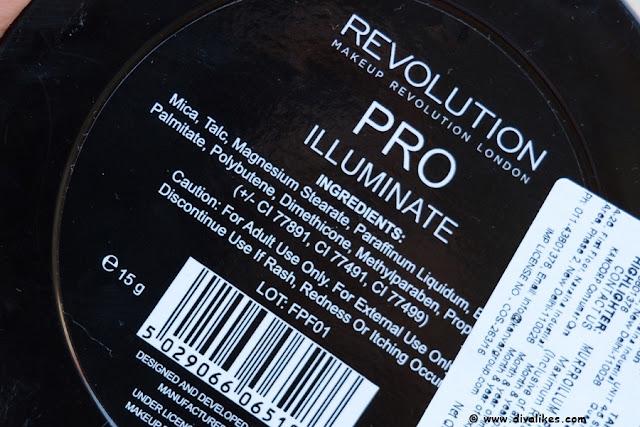 Makeup Revolution Pro Illuminate Ingredients
