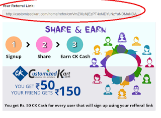 customizedkart.com referral trick no1
