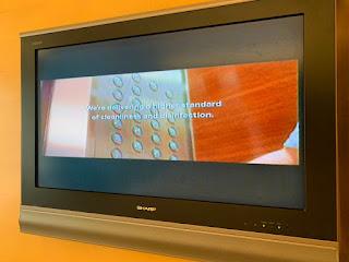 LCD TV at Hilton Singapore