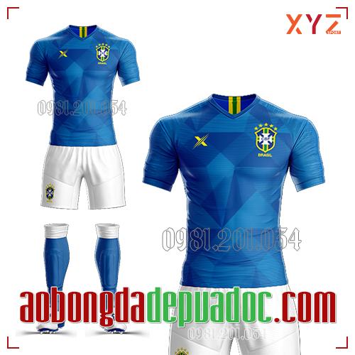 Áo Brazil 2019 Sân Khách Màu Xanh Đẹp Và Độc
