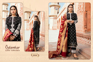 Shree fab Qalamkar lawn Collection Pakistani Suits