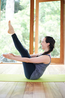 Navasana - Works your hip flexors more than the abdominals. Try ardha navasana if you want better abdominal activation. Also, kepping the chest lifted is the aim, and also makes holding the posture more challenging.