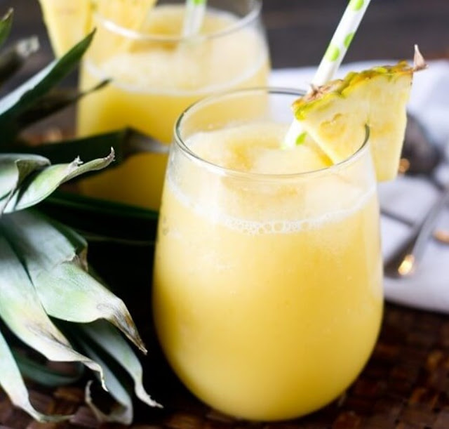 Pineapple Coconut Smoothie #drinks #healthy