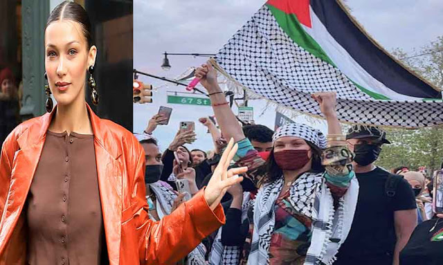 Bella Hadid joins protests after expressing 'deep sense of pain' for Palestine