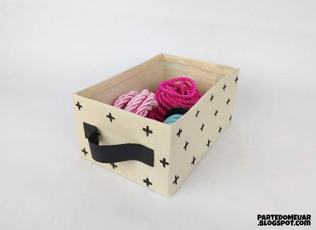 como fazer caixa organizadora
