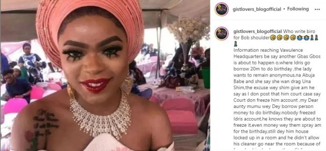 Bobrisky borrowed N20 million for his luxury 30th birthday party – Blogger Claims