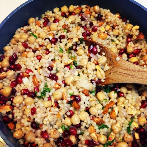 Pomegranate Chicken With Almond Couscous Recipe: Martha Chartreuse: Pomegranate Couscous Salad- Four Years