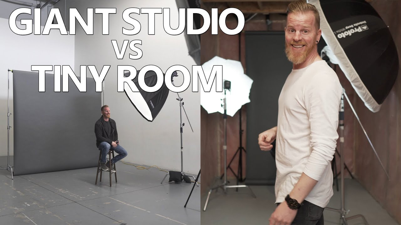 Studio Lighting Tutorial: Giant Studio vs Tiny Room