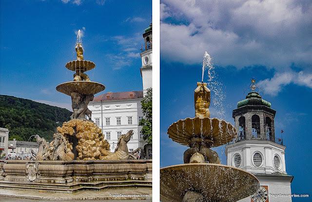Fonte da Residenz Platz, Salzburgo