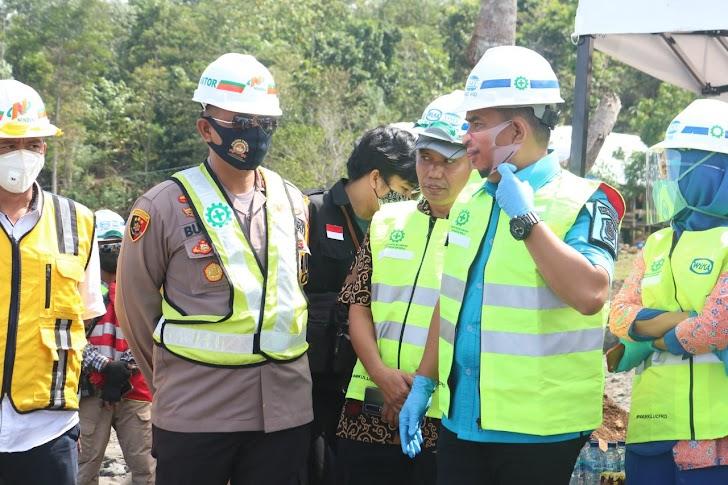 Kapolres Takalar Dampingi Wagub Sulsel Ke Pembangunan Bendungan Pammukkulu