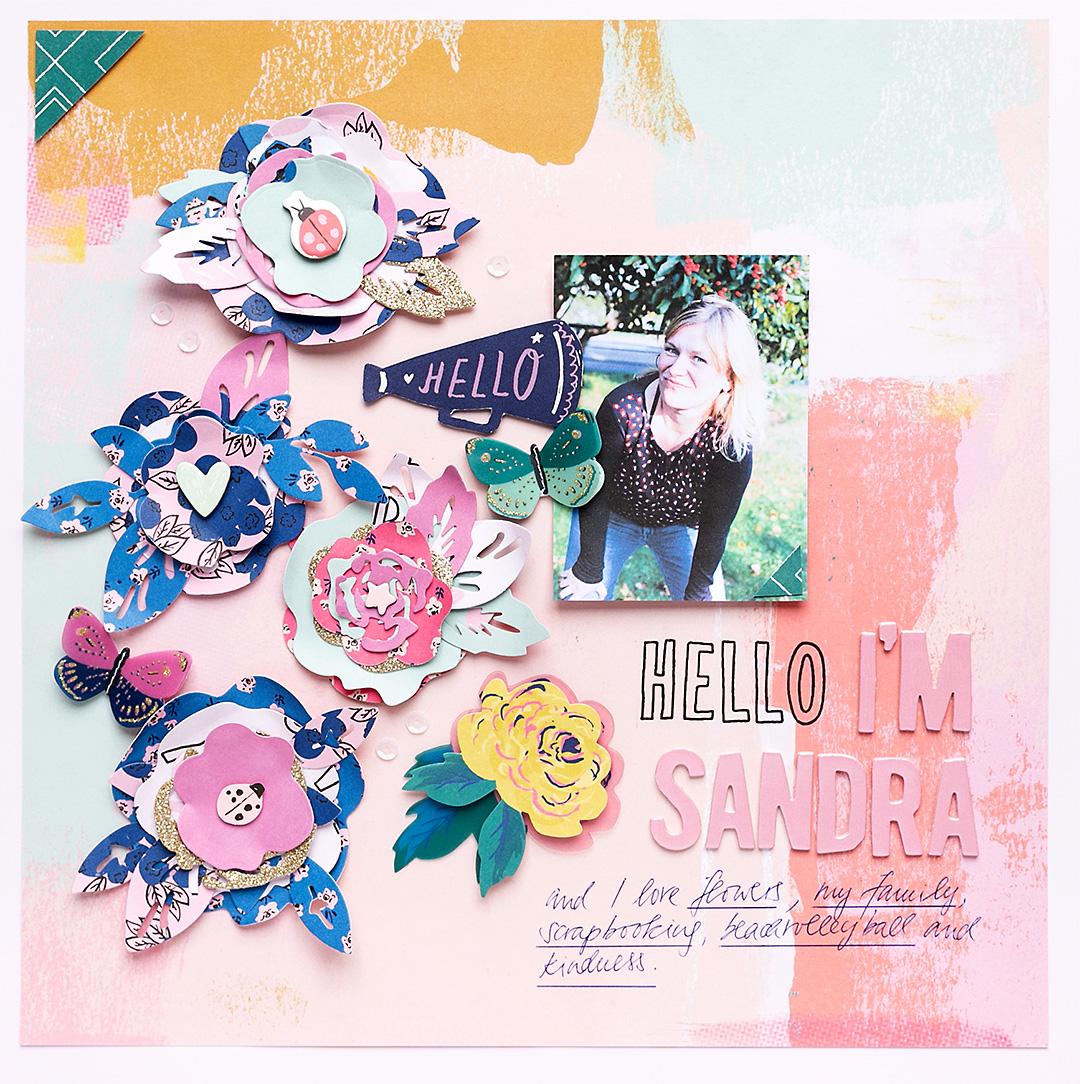 Scrapbook Layout Hello I'm Sandra