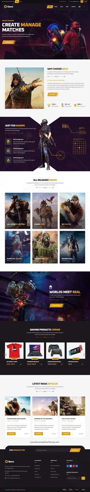 Best eSports and Gaming WordPress Theme