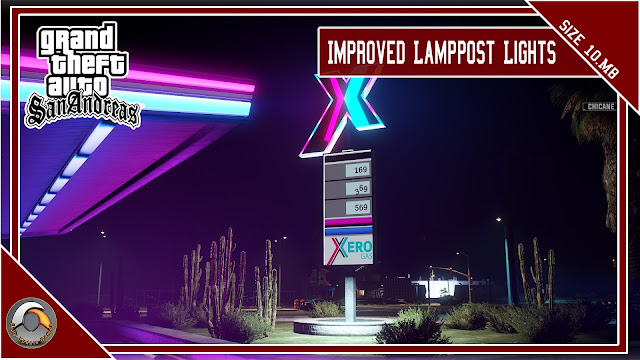 GTA San Andreas Improved Lamppost Lights V2 For Pc