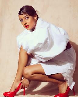 Nia Sharma White Dress Beautiful look