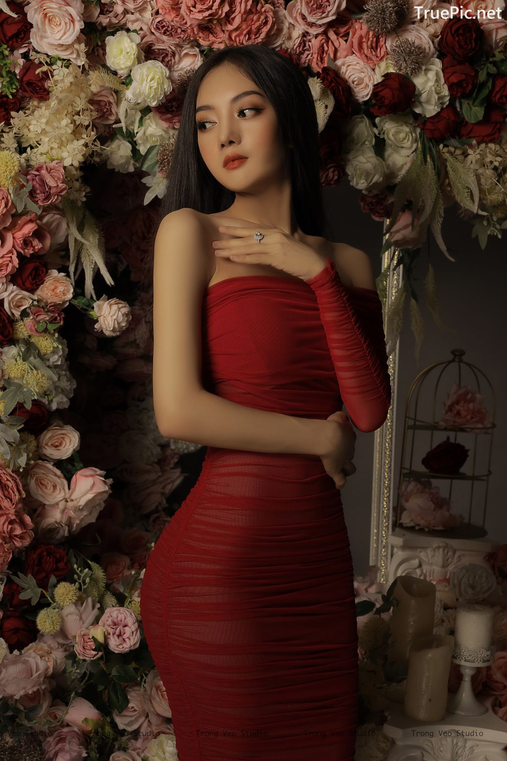 Image Vietnamese Model - Beautiful Girl and Flowers - TruePic.net - Picture-4