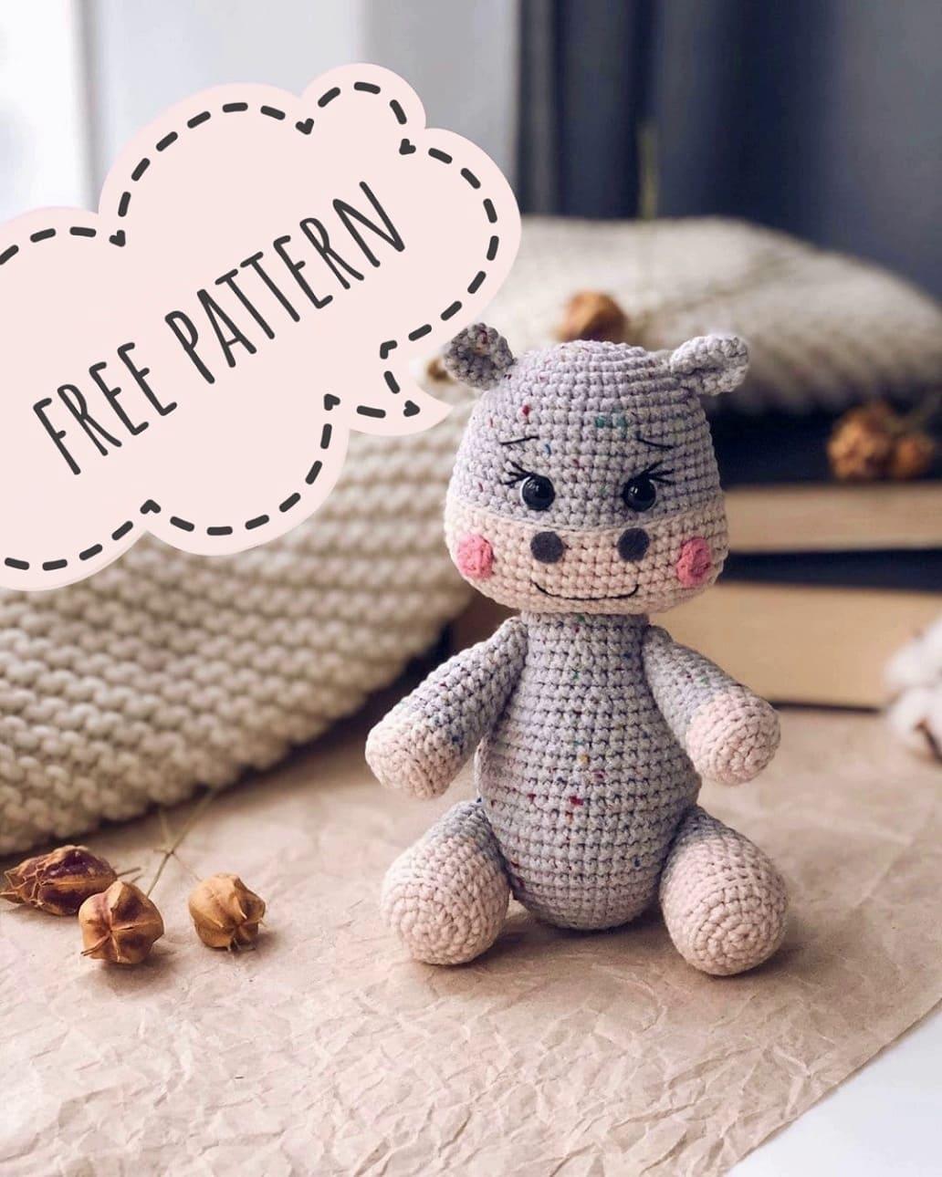 Free amigurumi hippo pattern