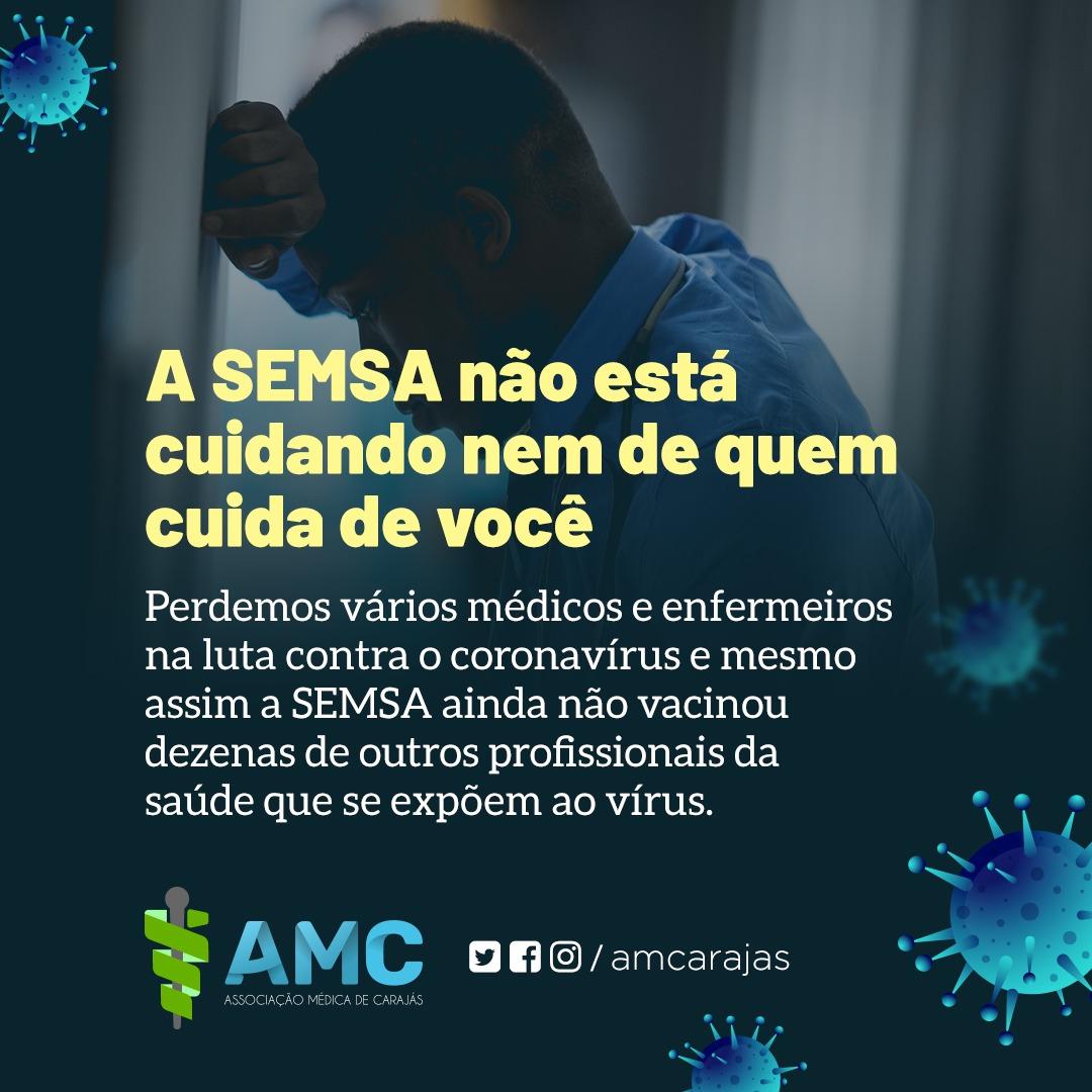 Denúncia: muitos profissionais de saúde ainda não foram vacinados em  Parauapebas.