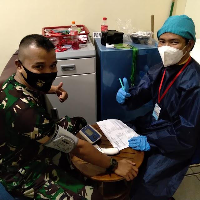 Lindungi Dari Covid-19, Rindam XII/Tpr Gelar Vaksinasi Kepada Peserta Pelatihan Pratugas Satgas Apter