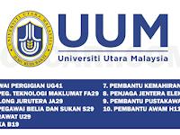 JAWATAN KOSONG TERKINI DI UNIVERSITI UTARA MALAYSIA UUM - PELBAGAI JAWATAN / GAJI RM1,218.00 - RM9,656.00