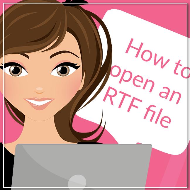 How to open an RTF file, Lovelytocu.ca