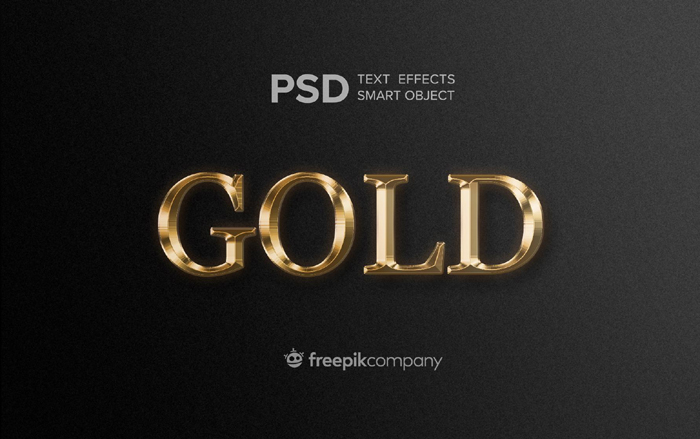 Gold Text Effect Dark Background