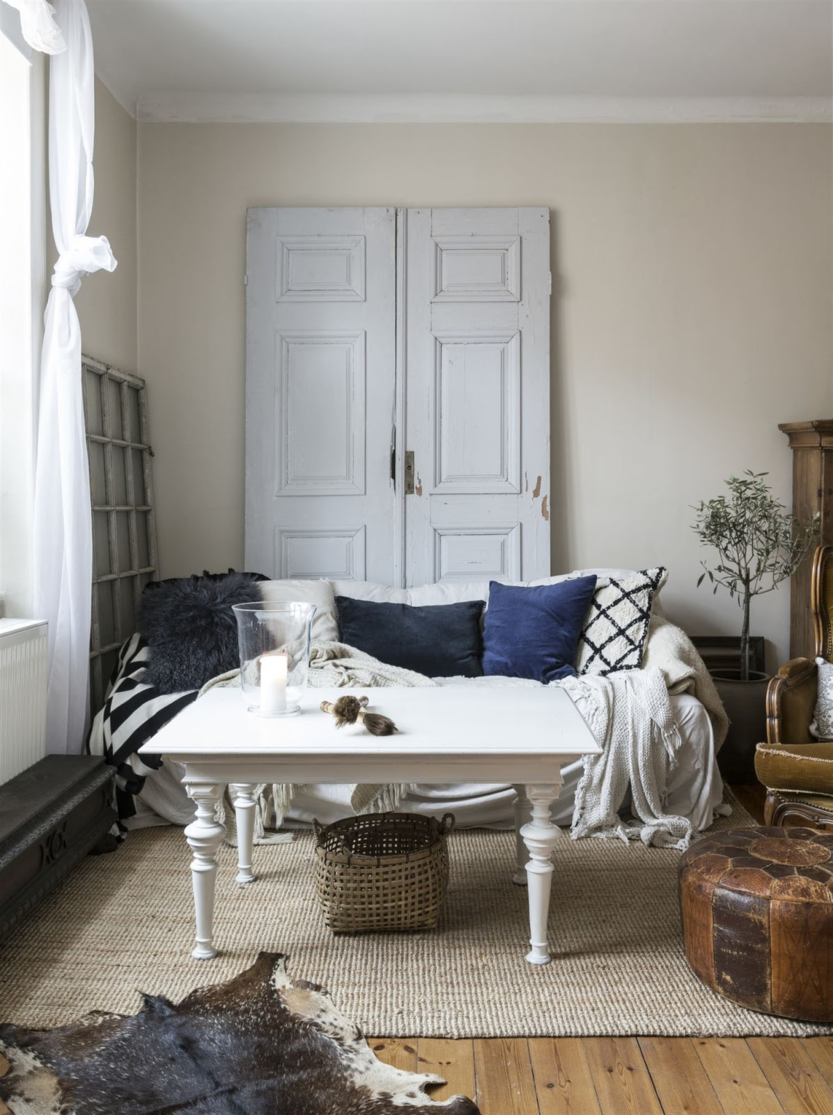 A Small Swedish Apartment With Vintage Furniture And Flea Market Finds