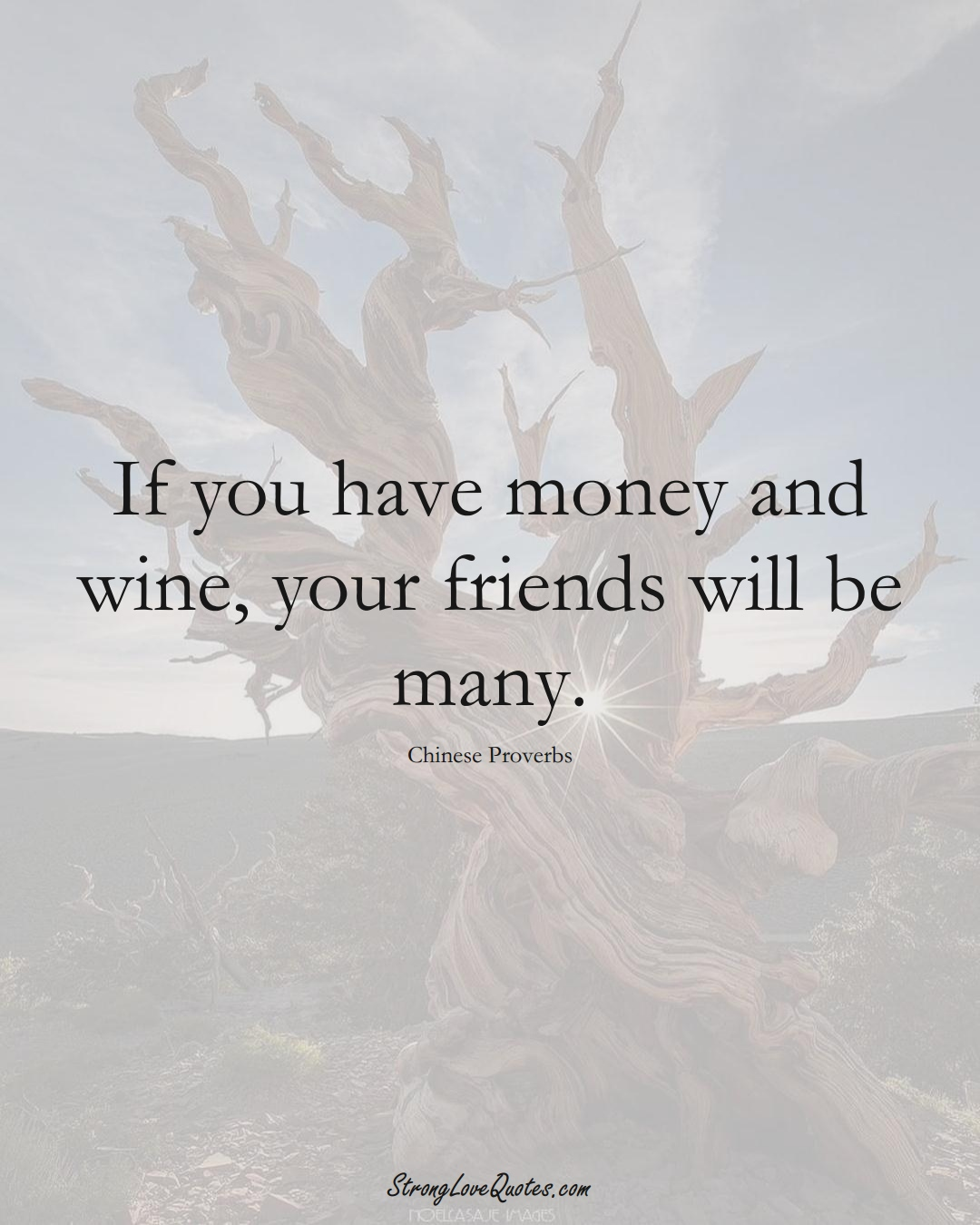 If you have money and wine, your friends will be many. (Chinese Sayings);  #AsianSayings